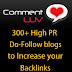 List of 300+ High PR Dofollow Blogs with CommentLuv