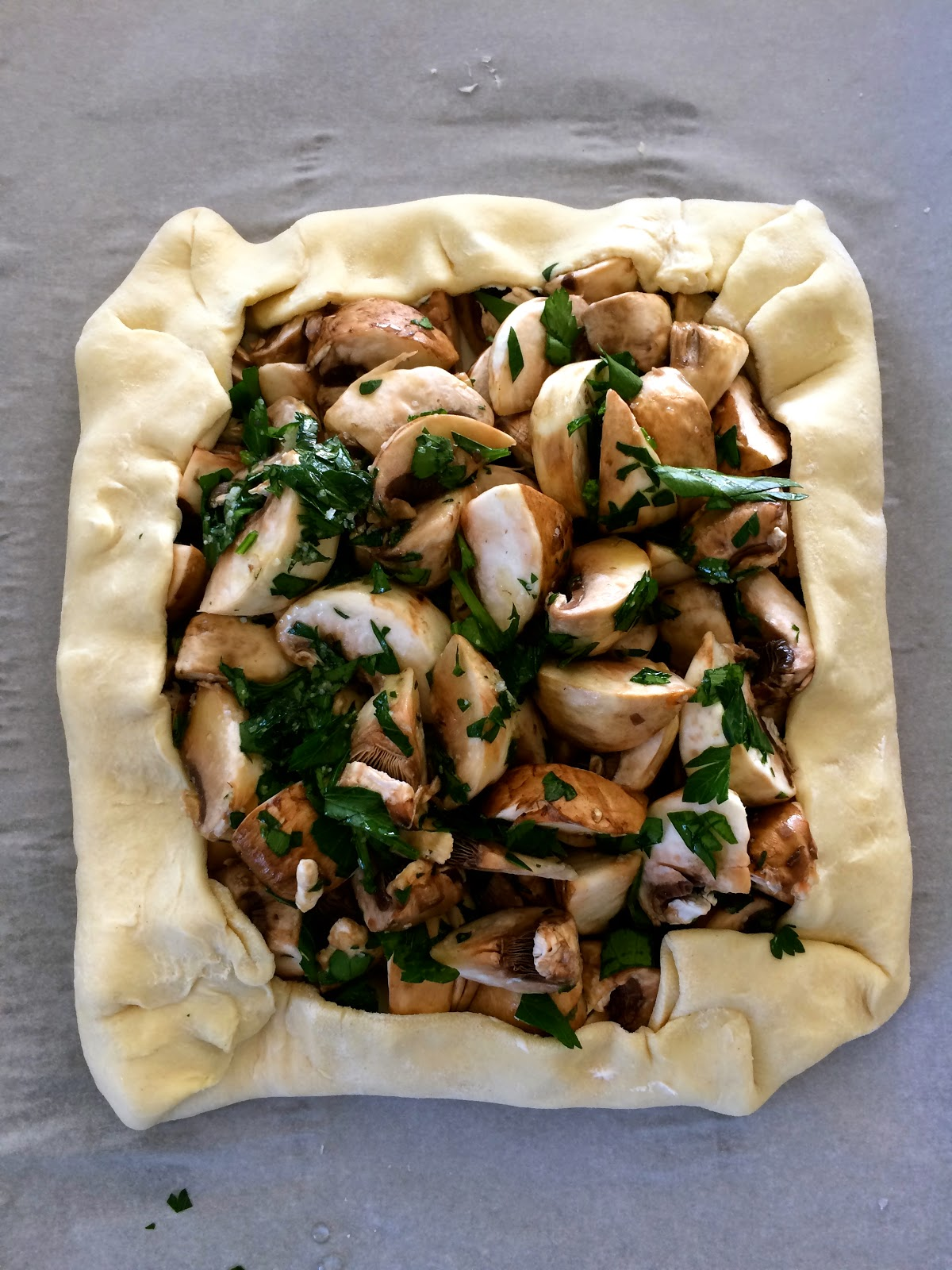 Mushroom and Cream Cheese Puff Pastry from Food Therapy