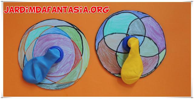 Atividade de Artes e Reciclagem Divertida Brinquedo feito com Cd