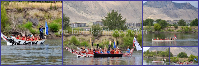 They make their way to Riverside Park in Kamloops, BC