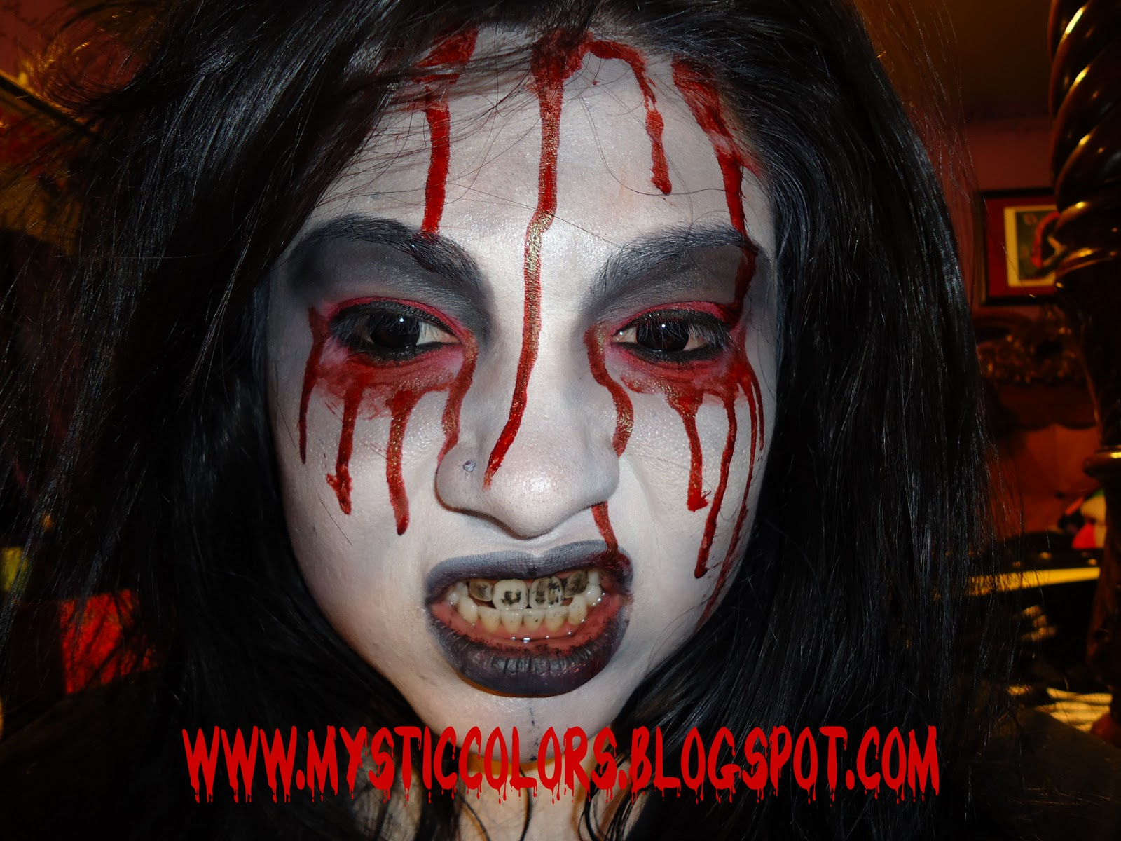 EYE-LUV MAKEUP: Bloody Mary Halloween Look