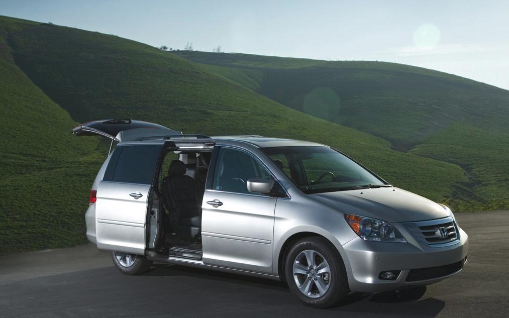 2008 Honda Odyssey grey