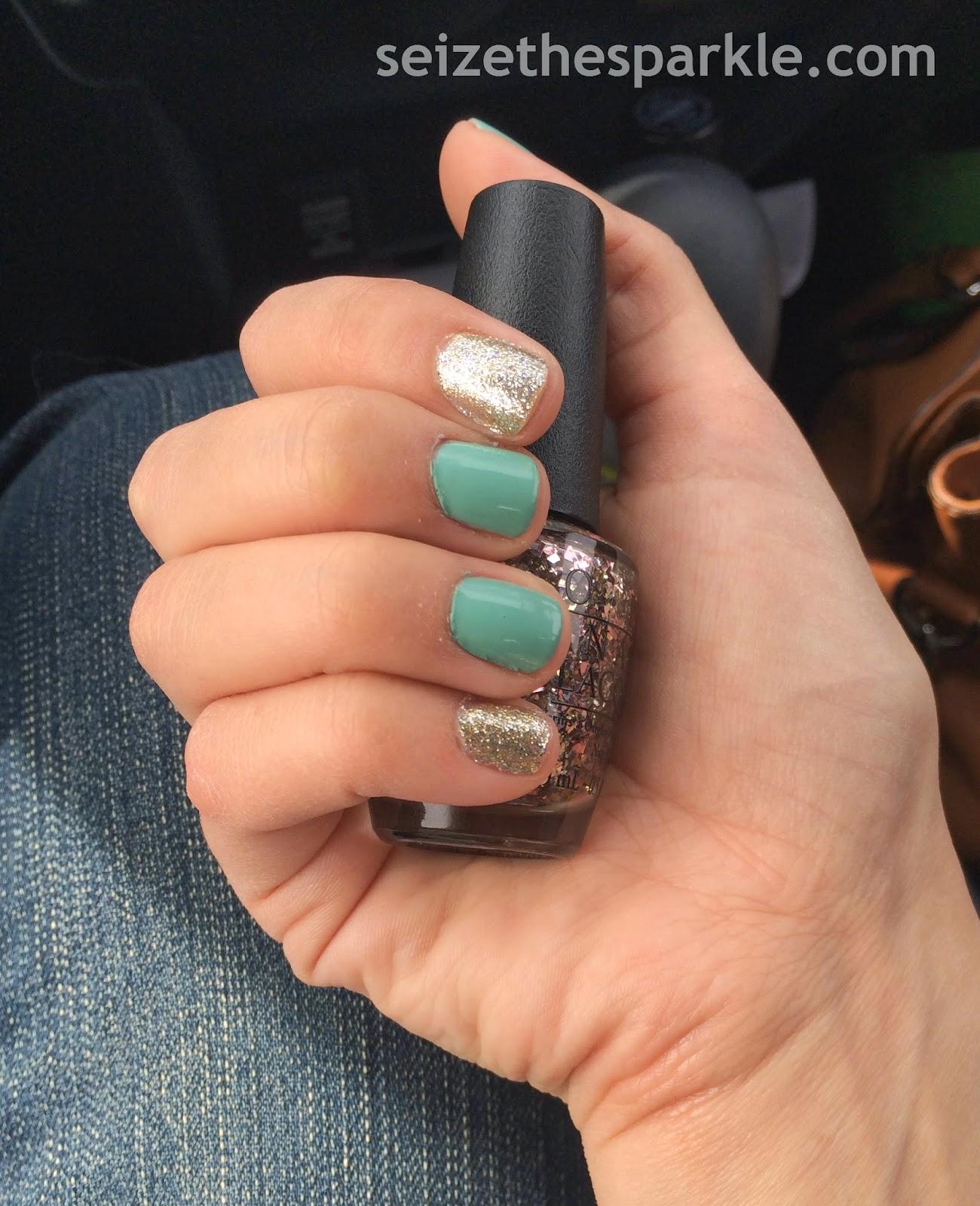 Essie Turquoise & Caicos Accent Manicure