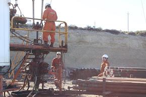 Trabajo de campo. Equipo de reparación en Comodoro Rivadavia.