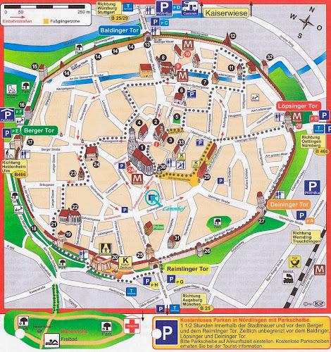 Nordlingen Tourist Map