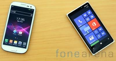 adu lumia 920 vs galaxy s3 bagusan mana, pilih android atau windows phone, handphone canggih terbaru