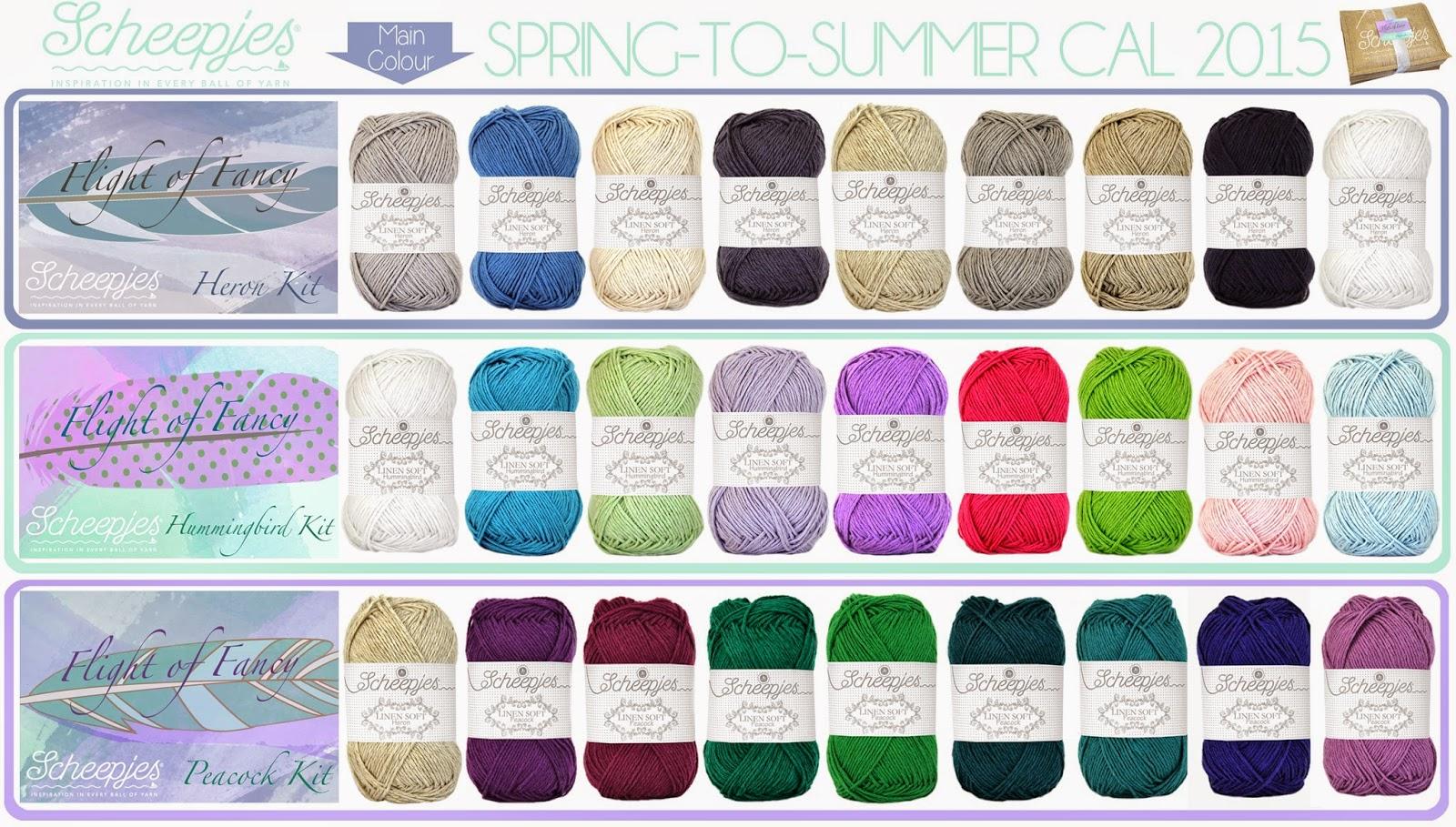 Kleurenpakketten CAL 2015 Scheepje