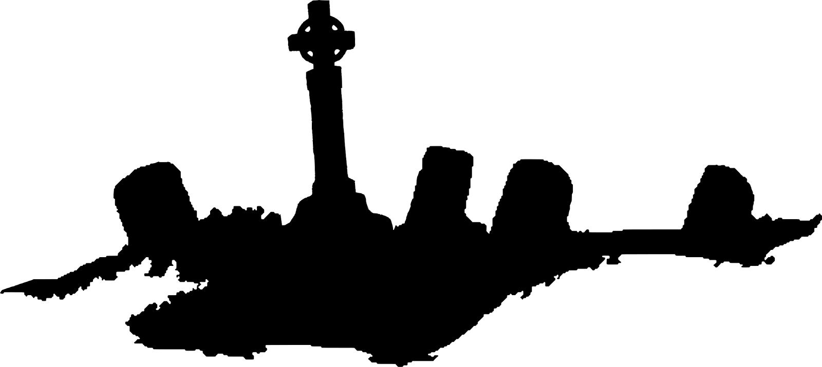 Graveyard Silhouette Clip Art