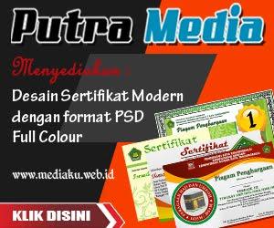 CD Desain Sertifikat Format PSD