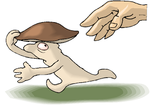 Fantasy Running Mushrooms Free Clipart