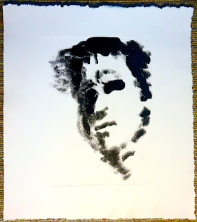 print, mono, portrait, Fred Bell, ink, paper, man, male,