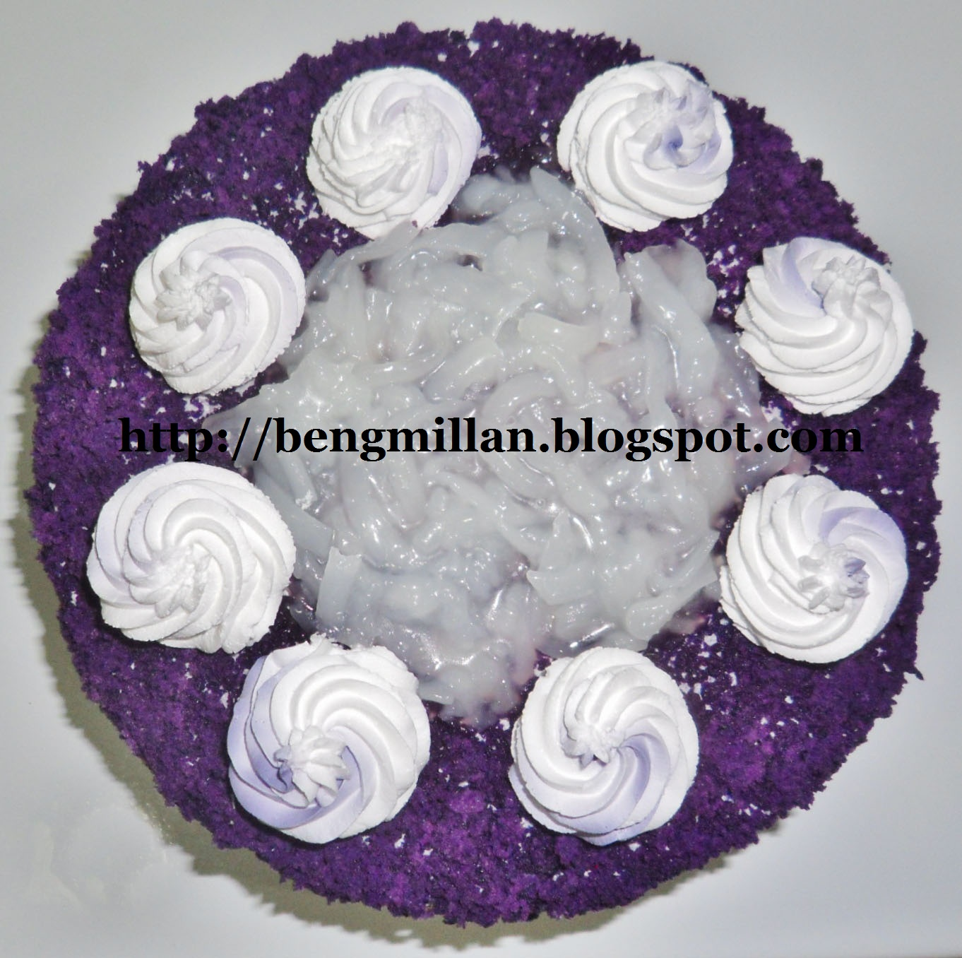 Ube Cake Using Ube Powder