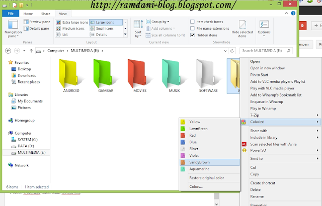 Cara Merubah Warna Folder Windows 8,7,vista Komputer