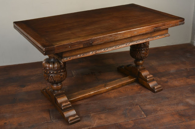 Antique leaf refectory table