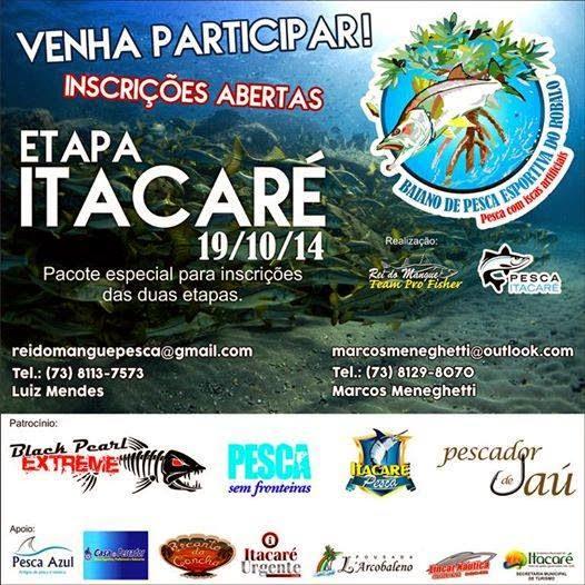 Itacaré sediará etapa do Campeonato Baiano de Pesca Esportiva neste domingo