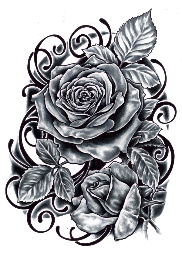 Black rose tattoo designs ideas photos images memoir tattoos for Rose tattoo patterns