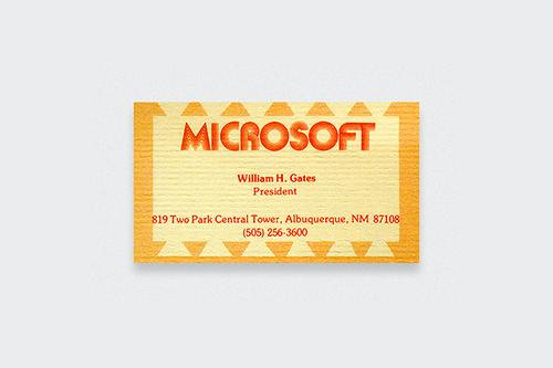 10 Kartu Nama Legendaris dari Tokoh-Tokoh Terkenal Dunia: Bill Gates