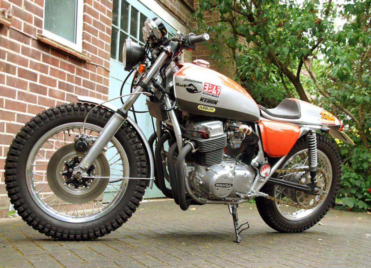 Cling On For Dear Life Honda CB750 Scrambler