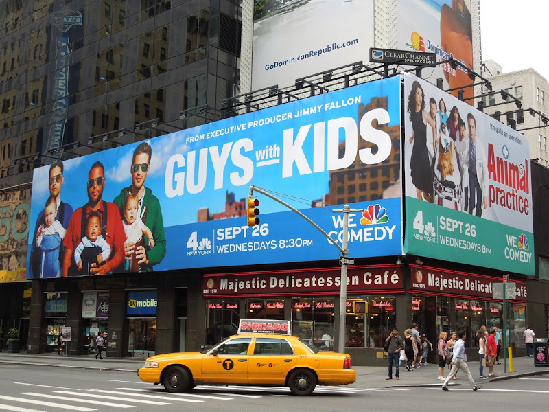 Guys with Kids TV billboard NYC