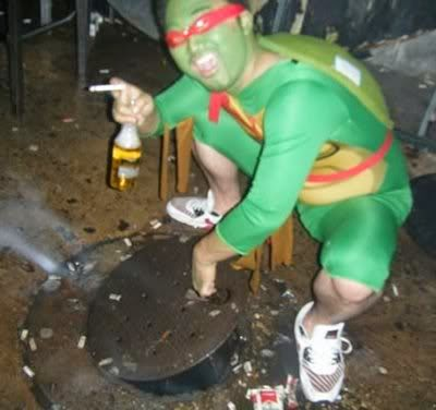 Drunk Funny Ninja Turtles Costume