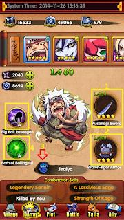 Ninja Coming, Game Naruto Coming full Skill và kích dòng sức mạnh