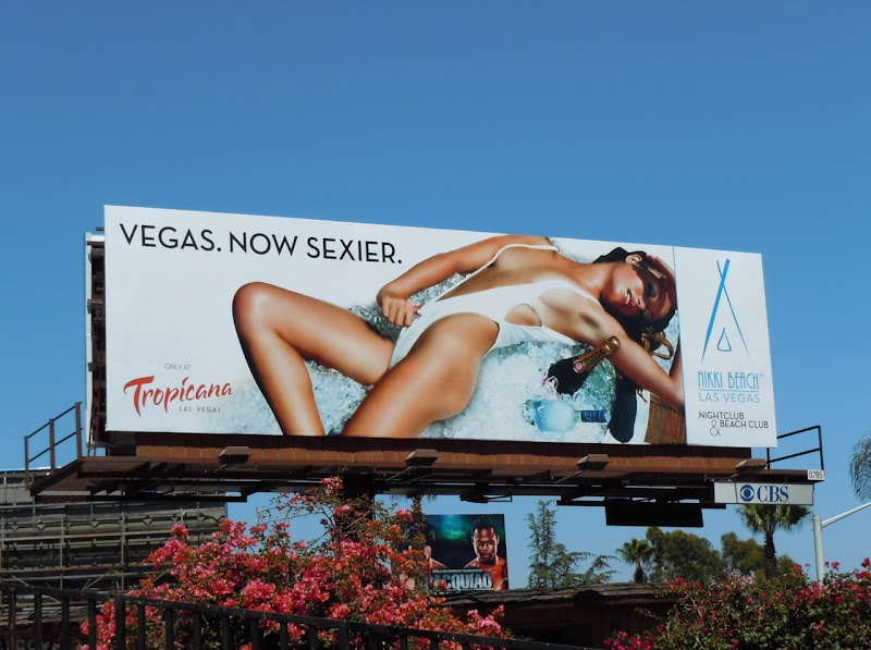 Nikki beach swimsuit model billboard