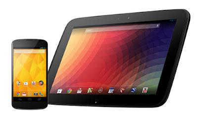 Noticias sobre los Nexus 4 y las tablets Nexus 10