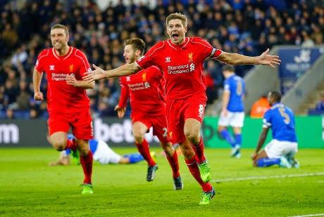 Liga Inggris : Liverpool 3-1 Leicester City