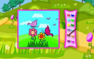 Screenshots of the Sweet Butterfly Coloring for Android tablet, phone.