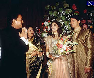 Madhuri Dixit with Husband Wedding Photos