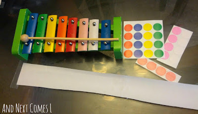 Composing music with stickers from And Next Comes L