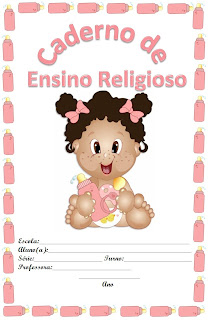 capa para caderno bebe rosa