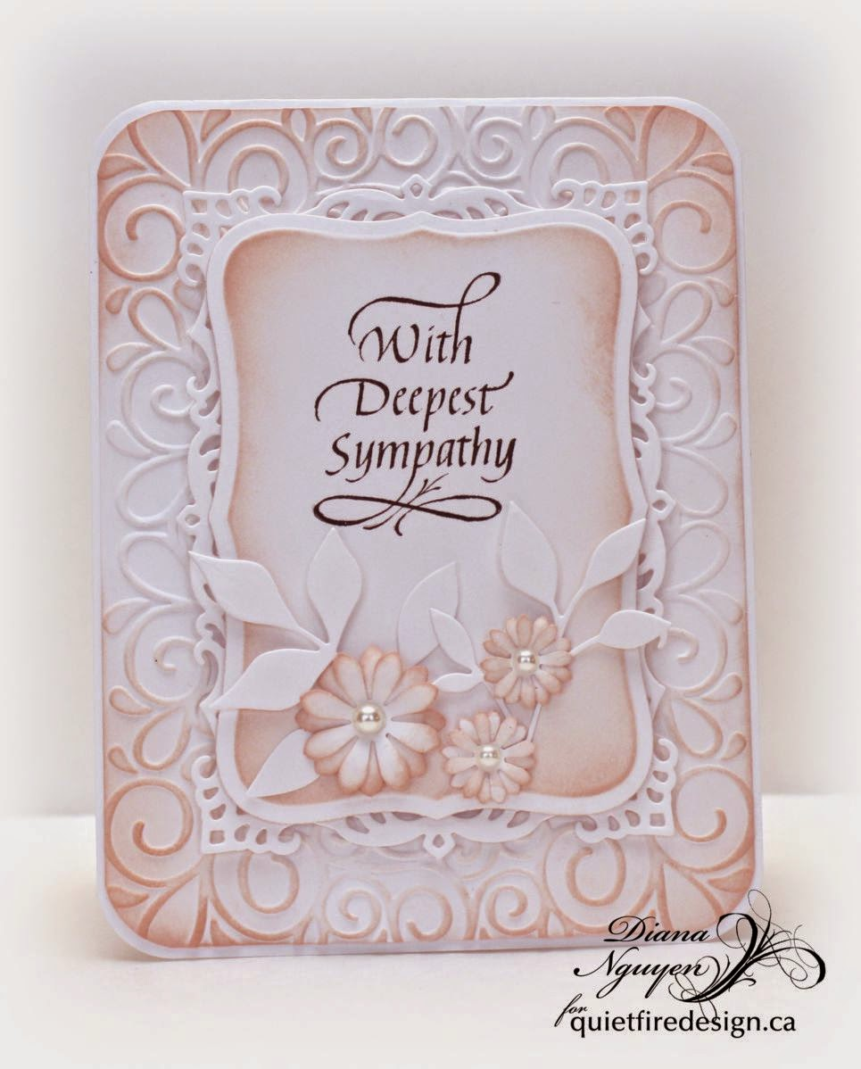 Diana Nguyen, Quietfire Design, sympath, with deepest sympathy, card