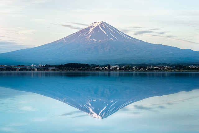 fuji,lake,reflection,water,sunrise,japan,HDR,landscape,a7r