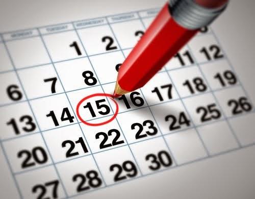 Calendario de salidas programadas 2018