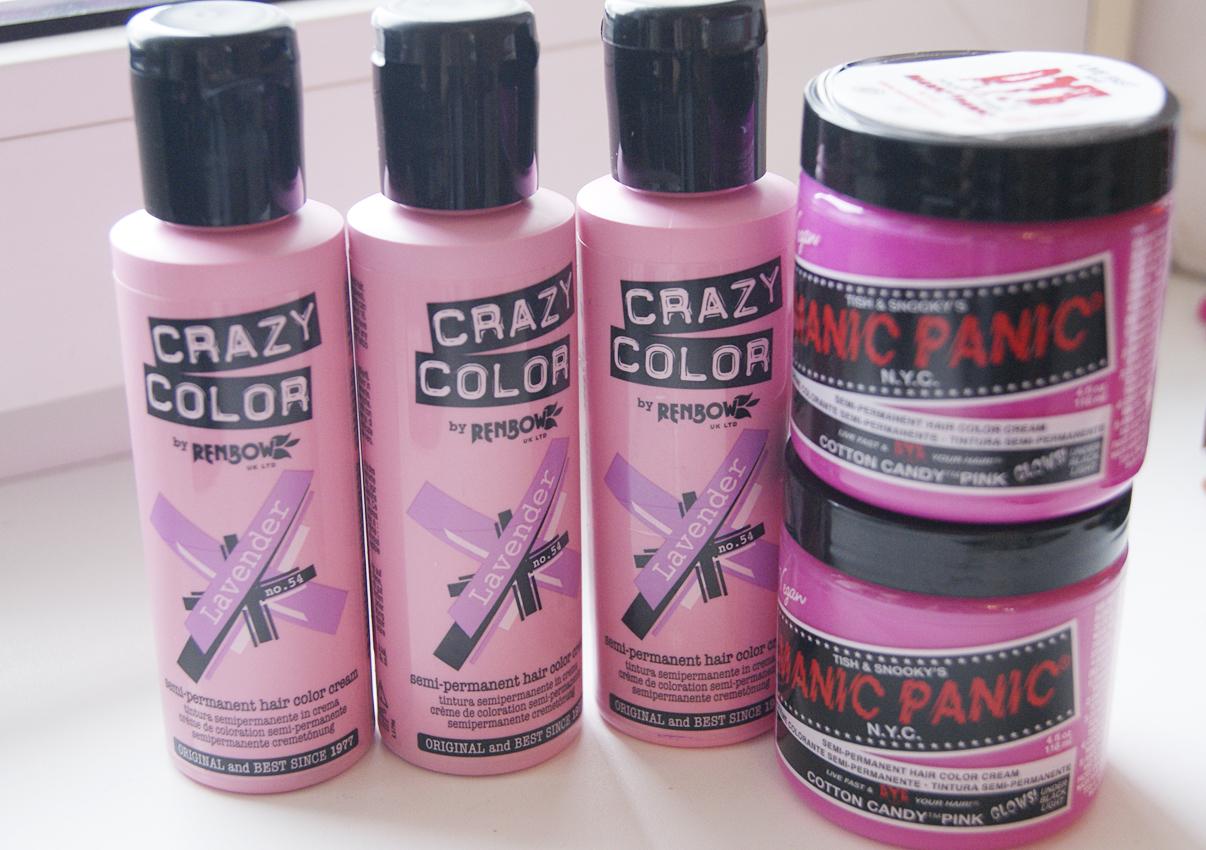 Розовая краска для волос в домашних условиях 179