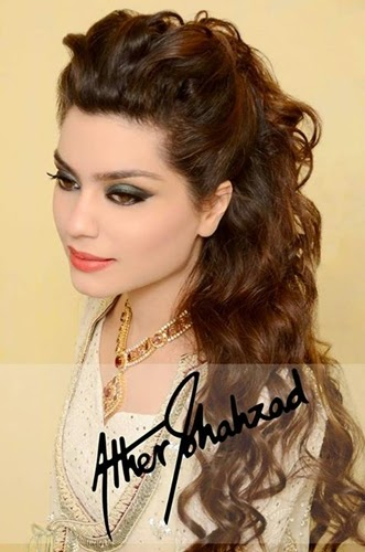Model Ather Shahzad Wedding Makeup  Bridal Party Makeover For Walima