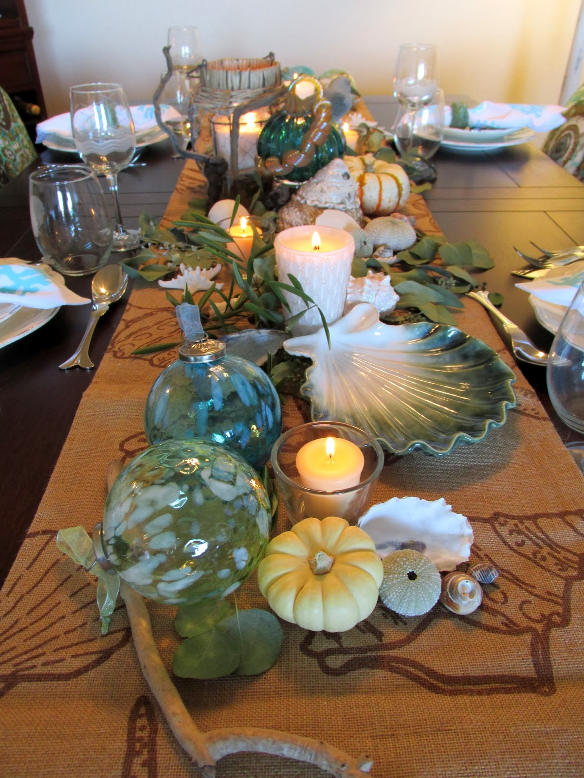 Everything Coastal Caron 39 S Fall Thanksgiving Dining Room