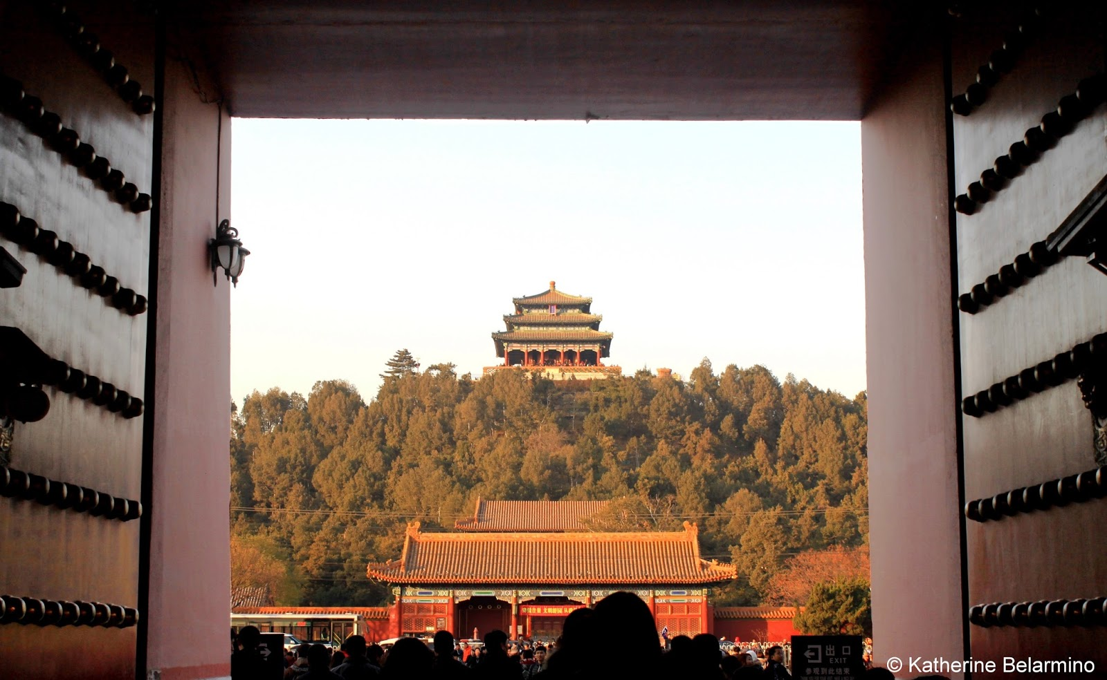 Jingshan Park Pavillion Beijing China