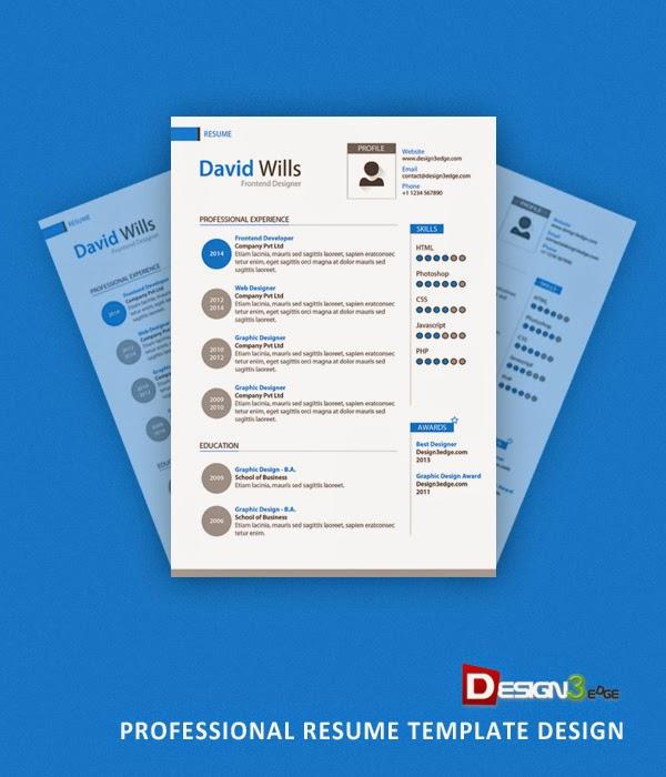 34 free professional resume cv psd templates tinydesignr