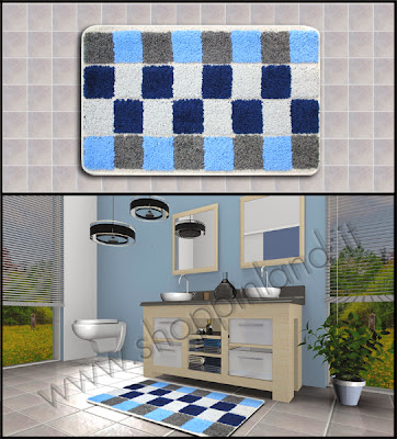 Tris tappeti da bagno carta adesiva per mobili - Tris tappeti bagno ...