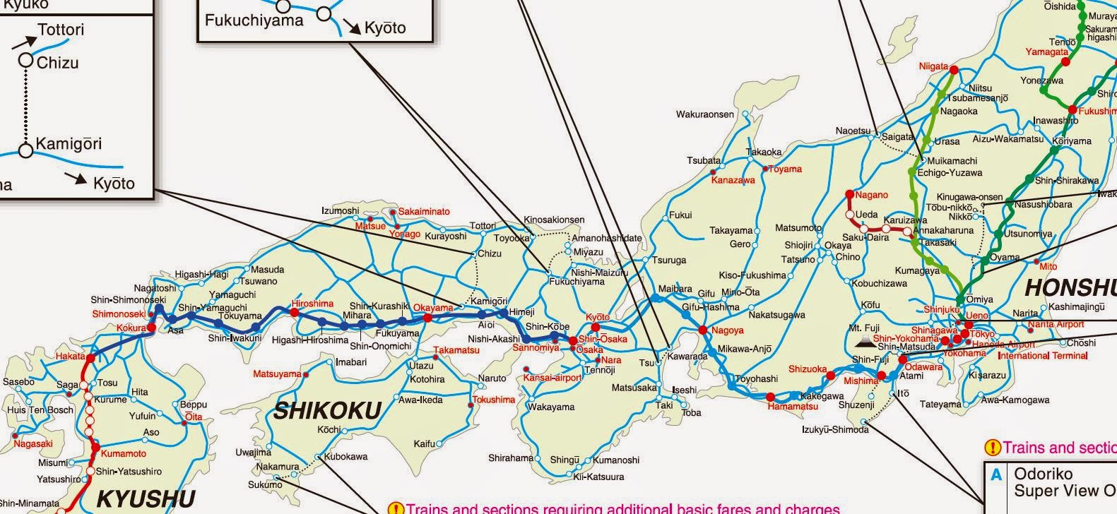 Japan Rail Network Map - Japan map rail