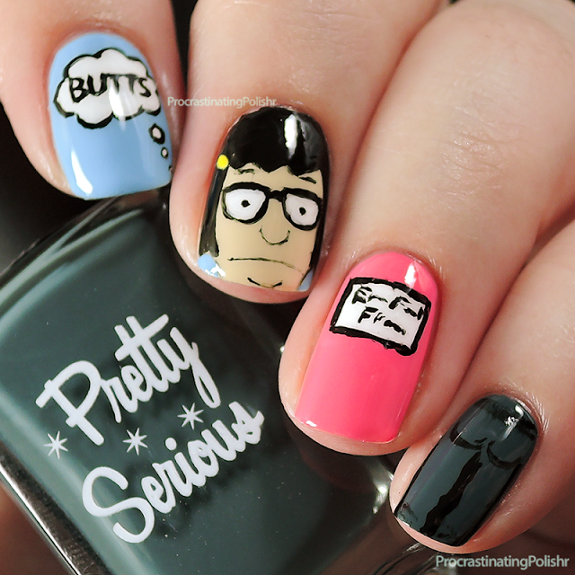 Best Nail Art of 2015 - Tina Belcher (Bob's Burgers)