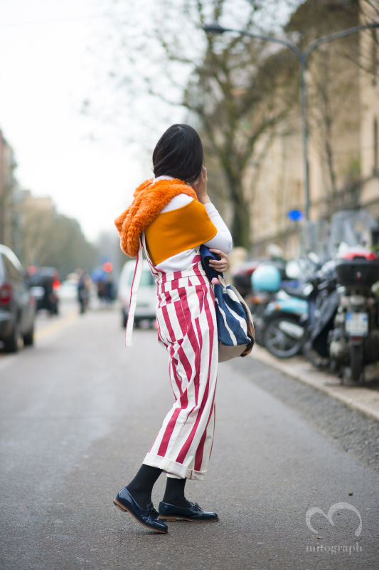 Blogger Susie Lau leaves Fendi show during Milan Fashion Week MFW