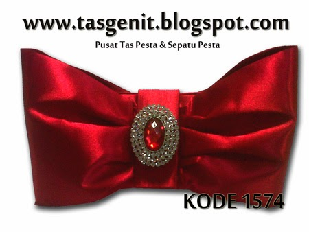 tas pesta merah, clutch bag cantik, tas pesta mewah, dompet kondangan, tas genit