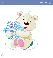 Snowflake Polar Bear for Facebook
