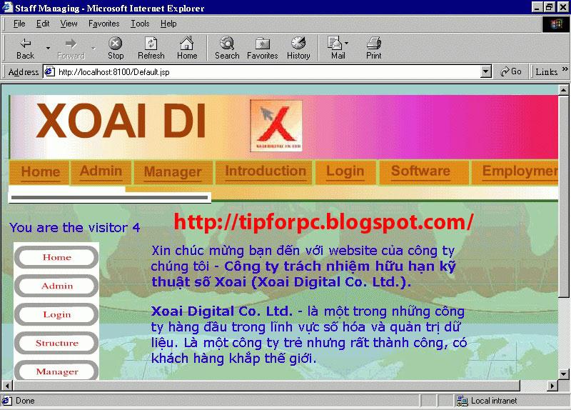 Source Jsp Mã nguồn Code phần mềm Quản lý nhân viên cty XOAI DI