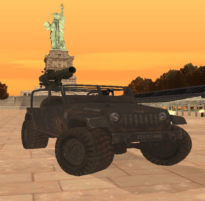 GTA San Andreas Black Ops Jeep Mod File Information