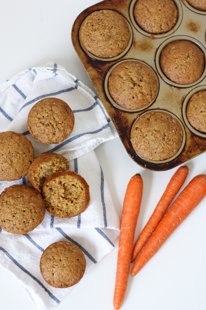 Sweet carrot muffins. A delicious alternative to zucchini bread and super kid-friendly