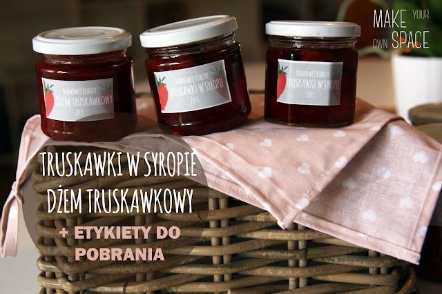 truskawki, blog, etykiety, przetwory, etykiety na przetwory, dżem truskawkowy, truskawki w syropie, truskawki, słoiki, słoiki na zimę, zimowe przetwory, etykiety na dżemy, etykiety na dżemy, etykiety na słoiki, zrób to sam, make your own space